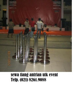 Rental tiang-antrian event
